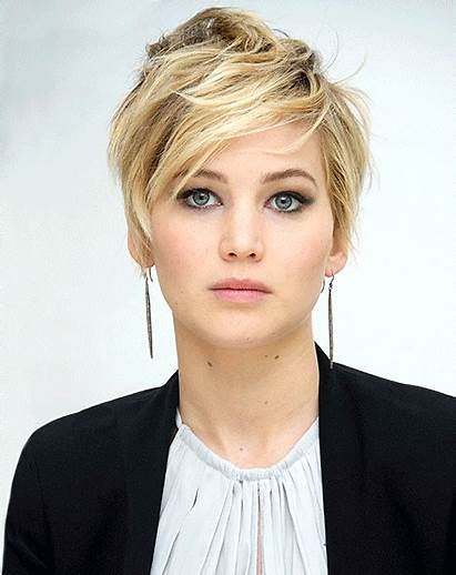 Jennifer Lawrence Pixie Haircut Hair Cut Short