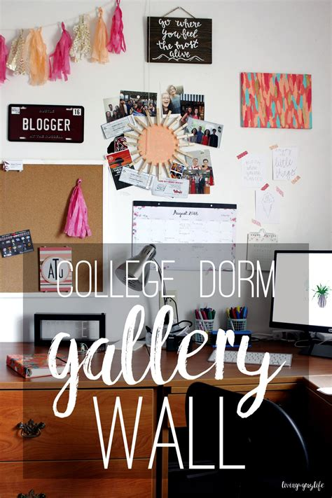 It's that some tend to be so than others. Creating A College Dorm Gallery Wall - Living the Gray Life