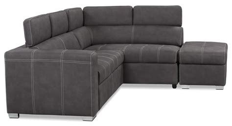drake  piece faux suede  facing sectional  sofa