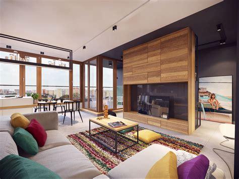 télé pour chambre appartement moderne au design minimaliste et chaleureux à