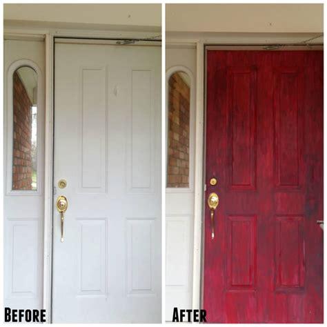 Door Makeover by Chalk Painted Front Door Diy Tutorial My Heavenly Recipes