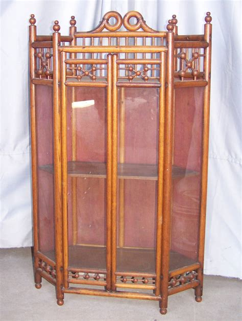 antique oak corner china cabinet bargain s antiques antique oak stick and oak 7482