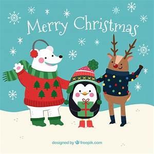 素敵なクリスマスキャラクターの背景 ベクター画像 | 無料ダウンロード