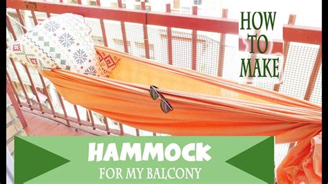 How To Hang A Hammock On A Porch by How To Make A Hammock In 1 Min For Your Balcony Terrace
