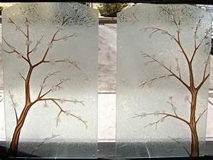 Decorative glass doors windows table cherry blossom for Decorative glass