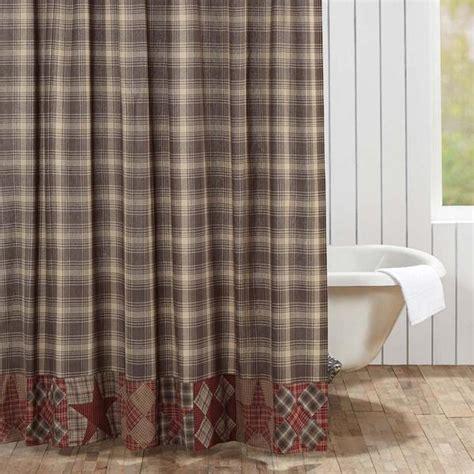 Dawson Star Patchwork Shower Curtain ? Primitive Star