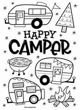 Coloring Camper Happy Mrs sketch template
