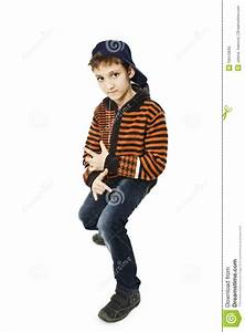 Little Cool Hip-hop Boy In Dance. Stock Image - Image ...