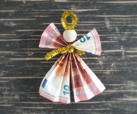 geldengel falten geldgeschenke zu weihnachten auf