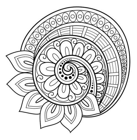 flower mandala coloring page  pinteres