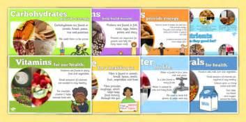 Year 6 Nutrients Display Poster Pack  Y6, Year Six, Ks2, Food