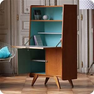 Meuble Secrétaire Ancien : meubles vintage bureaux tables secr taire ann es 50 fabuleuse factory ~ Teatrodelosmanantiales.com Idées de Décoration