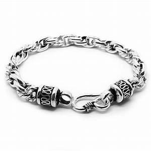 Bracelet En Argent Homme : bracelet homme chaine sculptee argent massif bijouxstore webid 607 ~ Carolinahurricanesstore.com Idées de Décoration