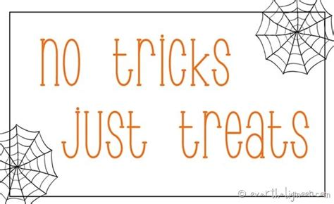 tricks  treats  printable tags   big