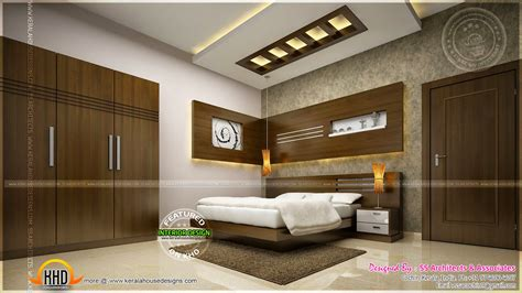 Awesome master bedroom interior - Kerala home design and