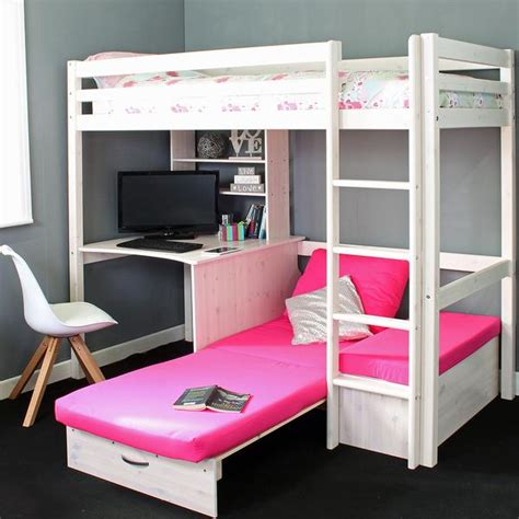 High Sleeper Bed With Sofa by High Sleeper Loft Beds With Sofabed Futon Sofa Desk