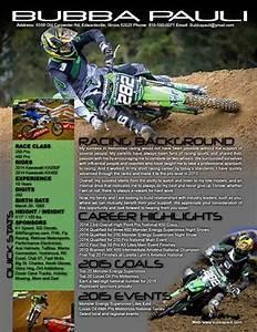 sponsorship resume samples With free motocross resume template