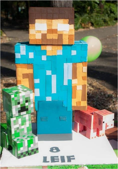 minecraft themed  birthday party ideas spaceships