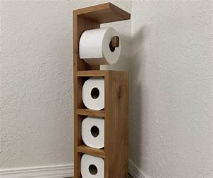 Scrap, Wood, Toilet, Paper, Holder, 18, Steps, With, Pictures