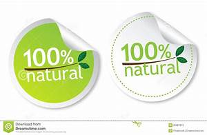 100% natural stickers stock vector. Illustration of ...