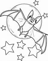 Coloring Bat Pages Halloween Printable Vampire Bats Moon Drawing Sheets Preschool Animals Adults Everfreecoloring Animal Hummingbird Pata Sauti Vampires Activities sketch template