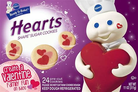No colors from artificial sources and no high fructose corn syrup. Pillsbury Hearts Shape Sugar Cookies - Shop Biscuit ...
