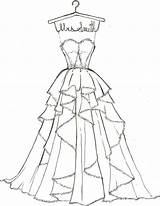 Coloring Pages Wedding Dress Printable Popular sketch template