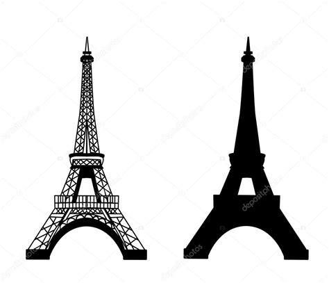 eiffel tower isolated vector illustration stock vector
