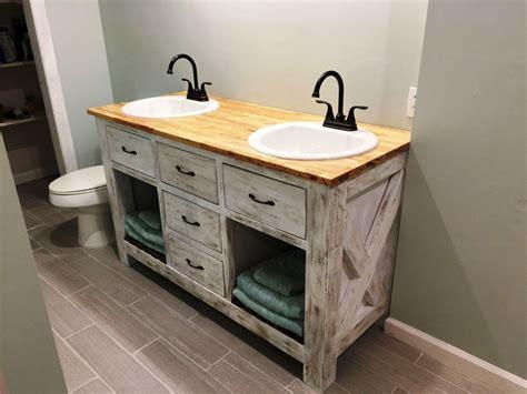 Diy Farmhouse Bathroom Vanity : Top Bathroom - Installing
