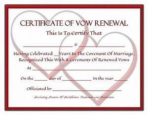 free renewal of wedding vows printable certificates With vow renewal certificate template