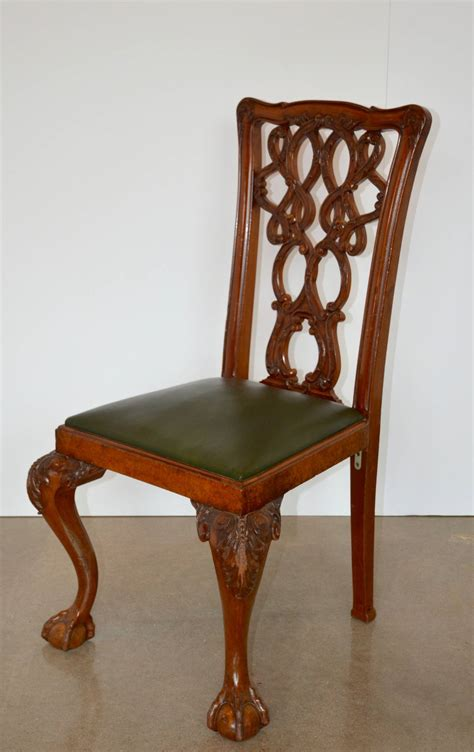 mahogany chippendale dining chairs for sale at 1stdibs