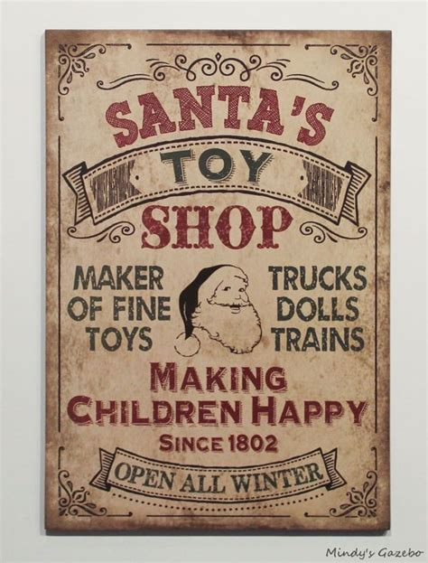 country vintage home decor vintage santas shop sign primitive country