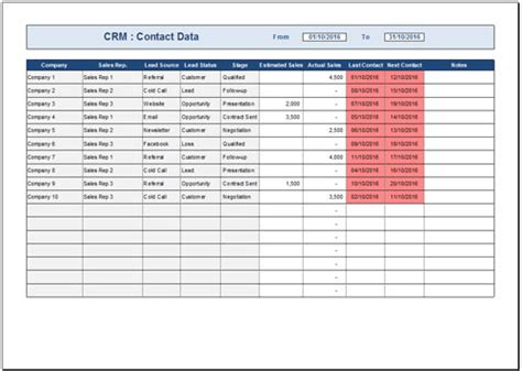 crm excel template 27 images of crm template leseriail