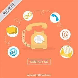 Phone background with contact icons Vector | Free Download