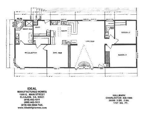 fleetwood mobile homes floor plans 1996 1996 skyline mobile home floor plan