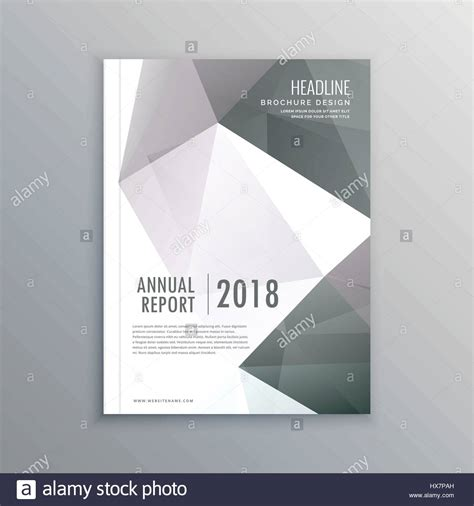 business magazine cover page template in a4 layout Stock