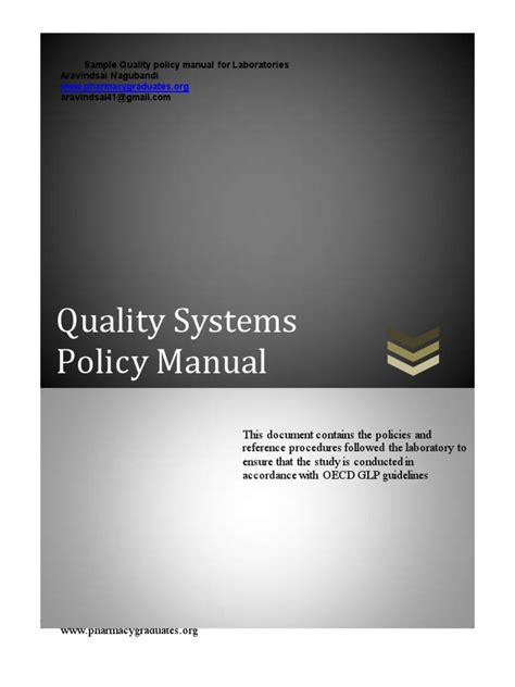 sample quality manual  laboratories business wellness