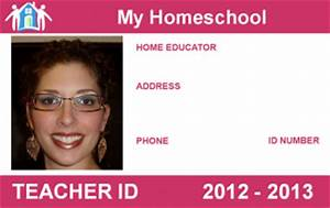 download school teacher id card template free With homeschool id template