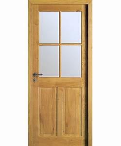 Vitre Pour Porte Intérieure : porte r novation c vennes 4 carreaux ch ne massif rustique ~ Dailycaller-alerts.com Idées de Décoration