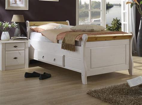 Massivholz Bett Mit Schublade 90x200 Holzbett Kiefer