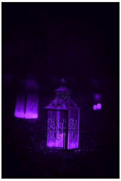 Lanterns Aesthetic Purple Gothic Candle Lantern Dark