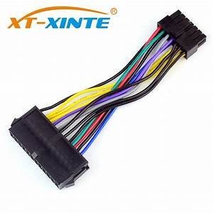 10cm Power Supply Cable Cord 18awg Wire Atx 24 Pin To 14