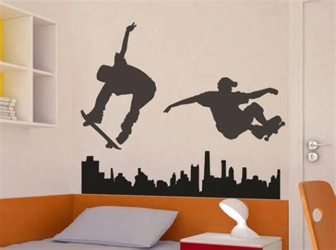 sticker chambre garcon deco chambre ado garcon skate 055529 gt gt emihem com la