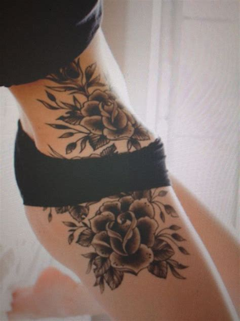 top  hip tattoo designs tattoos cover  flower