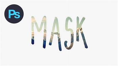 Mask Photoshop Text Effect Clipping Adobe Tutorial