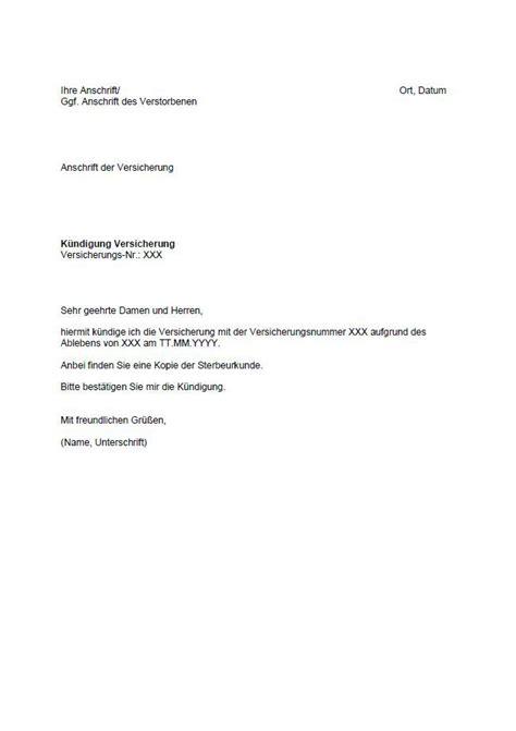 kuendigung kfz versicherung vorlage sonderkuendigungsrecht