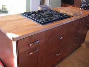 DIY Cherry Wood Butcher Block Countertops For Dark