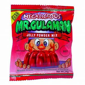 Megalicious Mr Gulaman Jelly Powder Mix Unflavored (Red) 24g