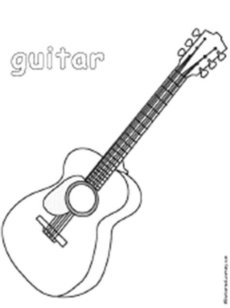 guitar coloring page enchantedlearningcom