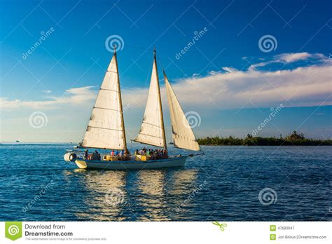 Key West Sailboat by Sailboat Seen From Key West Florida Stock Photo Image